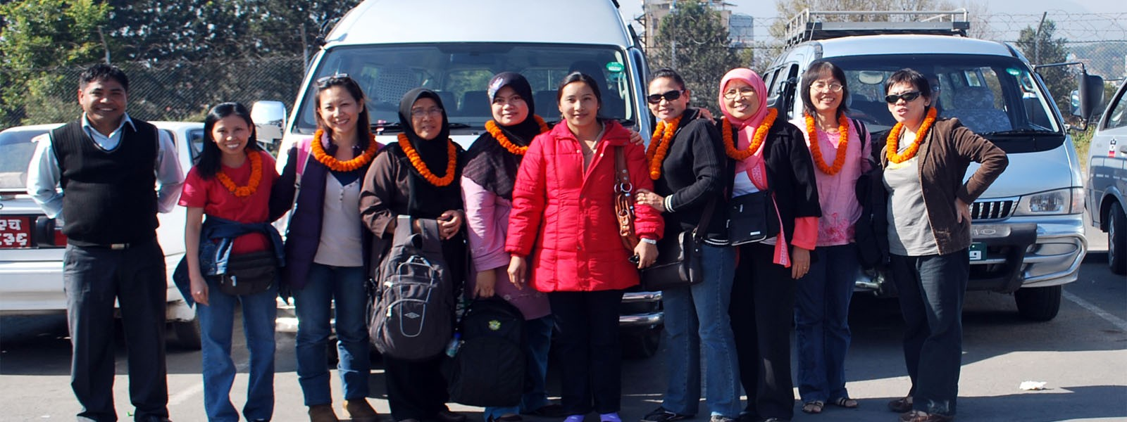 Kumar Karki and Malaysian tour group