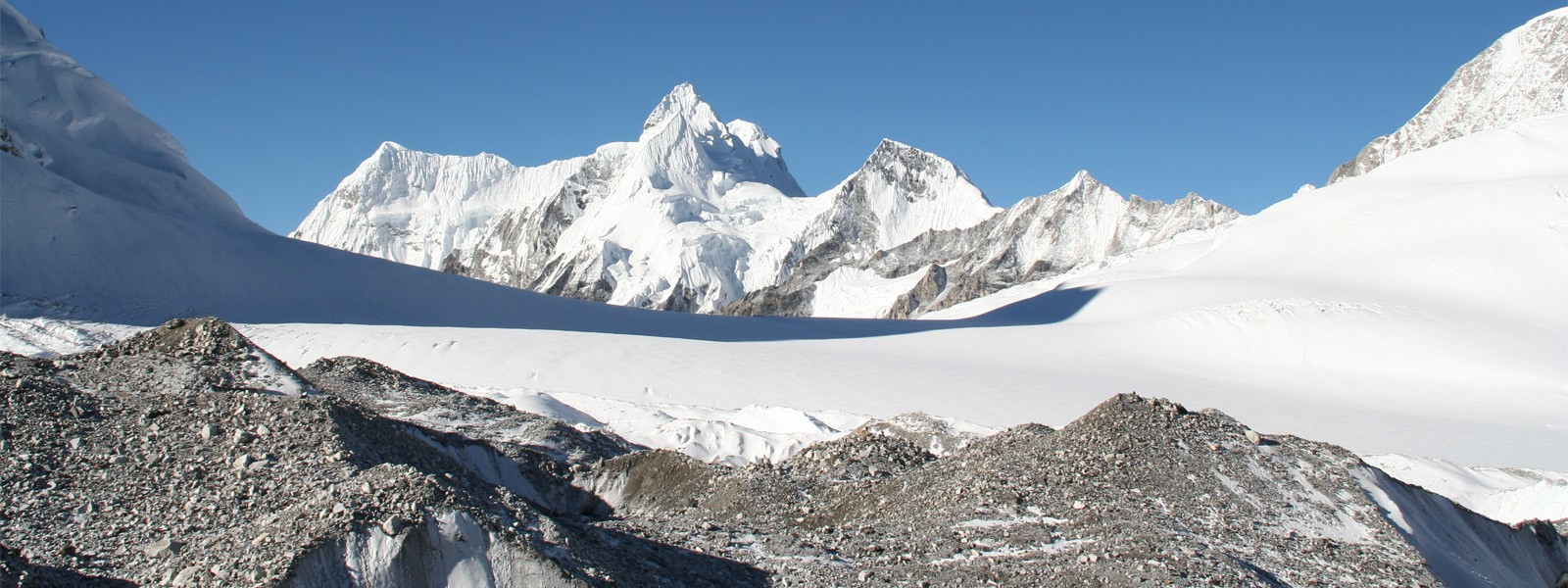 View from Cho Oyu Advance Base Camp