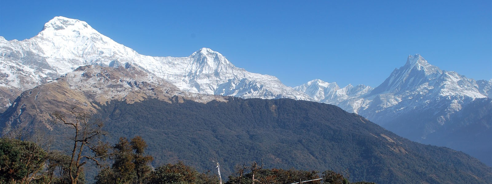 Annapurna South-Hiunchuli and Machhapuchhre